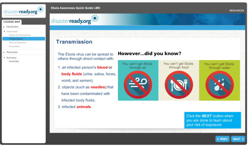 eLearning partnership spreads knowledge and awareness to preventEbola
